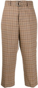 check cropped trousers - Brown