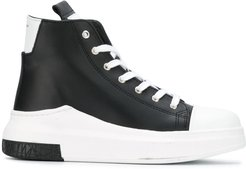 lace-up hi-top sneakers - Black