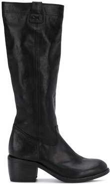 mid-heel knee-length boots - Black