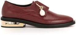 pendant detail low-heel loafers - Red