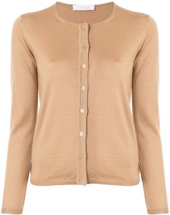 long-sleeve fitted cardigan - Brown