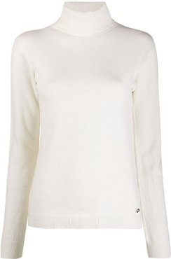 roll neck jumper - White