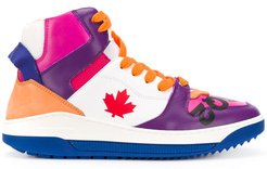 colour block high-top sneakers - White