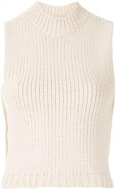 Clouds knit cropped top - NEUTRALS