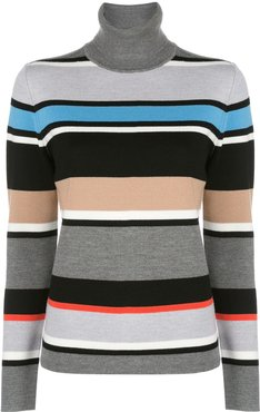 Matterhorn turtle neck stripe jumper - Blue
