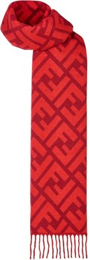 FF logo long scarf - Red