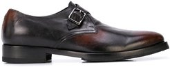 burnished monk shoes - Brown