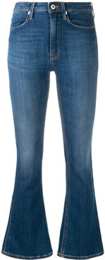 high-rise flared jeans - Blue
