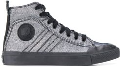 high-top sneakers - SILVER