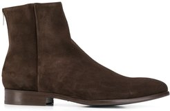 rear zipped ankle boots - Brown