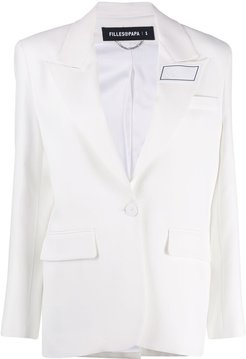 Rubik single-breasted blazer - White