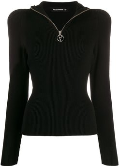 Gisele ribbed slim-fit jumper - Black
