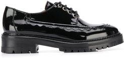 chunky 40mm lace-up brogues - Black