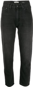 cropped high rise jeans - Black