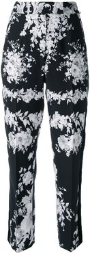 floral tailored trousers - Black