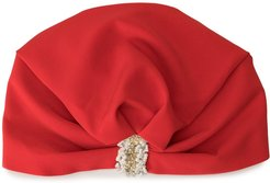 embroidered ruched hat