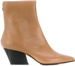pointed ankle boots - Brown