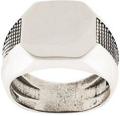 studded signet ring - Silver