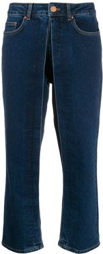 straight-leg trousers - Blue