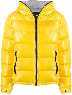 hooded puffer jacket - Yellow
