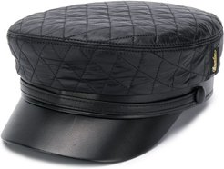 quilted forage cap - Black