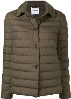 padded button jacket - Green