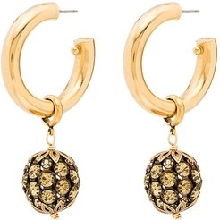Charade gold-tone crystal earrings