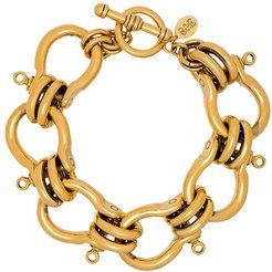 knotted chain-link bracelet - GOLD