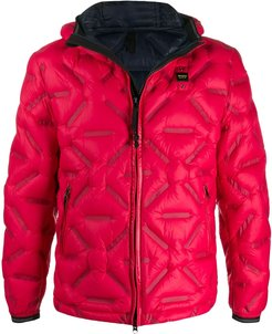 quilted padded jacket - Red