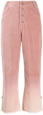 gradient-effect trousers - PINK