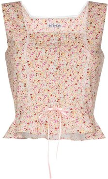 Amy floral bustier top - PINK