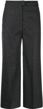 wide-leg cropped tailored trousers - Grey