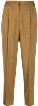 slim-fit tailored trousers - NEUTRALS