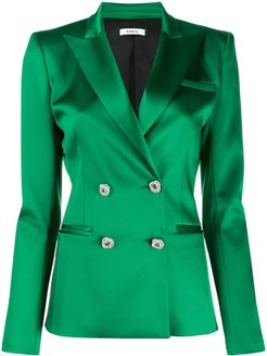 double buttoned fitted jacket - Green