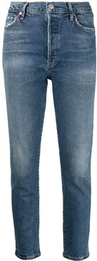 Olivia high-rise cropped jeans - Blue