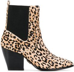 Ferry leopard-print ankle boots - NEUTRALS