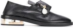 Nathan pearl detail loafers - Black