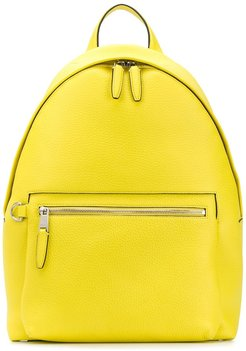 zipped one shoulder backpack - Yellow