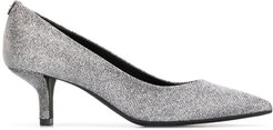 mid-heel glitter pumps - Metallic