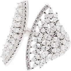 feather wing ring - SILVER
