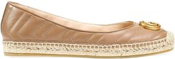 Marmont GG leather espadrilles - PINK