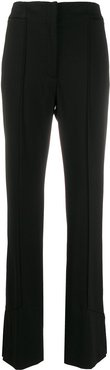 welt detail tapered trousers - Black