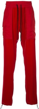 commando patch trousers - Red