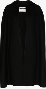 hooded cashmere cape