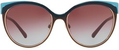 cat-eye tinted sunglasses - Red