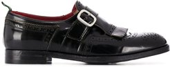 buckled oxford shoes - Black