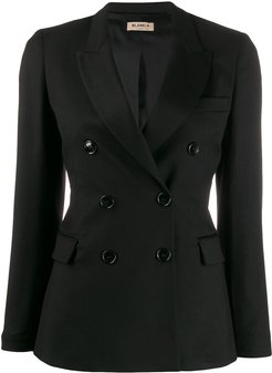 double breasted blazer - Black