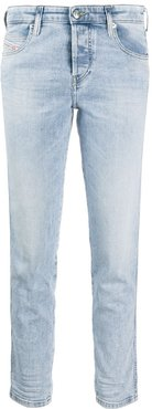 low-waist slim-fit jeans - Blue