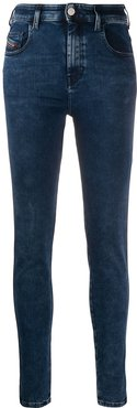 super skinny high-waisted jeans - Blue