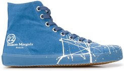 Tabi canvas high-top sneakers - Blue